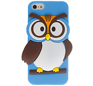 Cartoon Style 3D Owl Pattern Case for iPhone 5/5S (Assorted Colors)