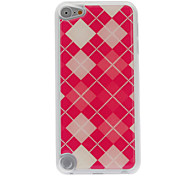 Classic Red Grid Pattern Epoxy Hard Case for iPod Touch 5