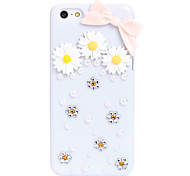 Marguerite Bowknot Metal Jewelry Back Case for iPhone 5C
