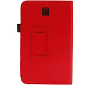 For Samsung Galaxy Case with Stand / Flip / 360° Rotation Case Full Body Case Solid Color PU Leather Samsung Tab 3 7.0