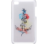 Simple Anchor Pattern Epoxy Hard Case for iPod Touch 4