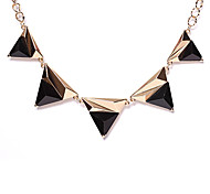 Black / Pink Choker Necklaces Alloy Daily Jewelry