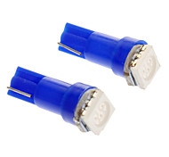T5 1x5050SMD Blue Light Lâmpada LED para carro (DC 12V, 2pcs)