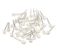 4 verschiedene White Light LED Light Emitting Diodes (3-3.2V, 40pcs)