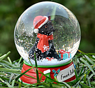 Lovely French Bulldog Decorative Crystal Ball Ornament Christmas Gift for Pet Lovers
