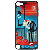 Shimmering Cool Skull in Black Suits Pattern Hard Case for iPod touch 5