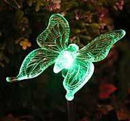 Solar RGB Butterfly Garden Light Stake