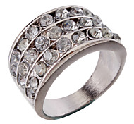Men's Rhinestone Silver Plated Ring(Assorted Color)