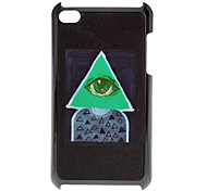 Shimmering Triangle and Eye Pattern Hard Case for iPod touch 4