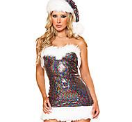 Costume di Natale di paillettes donne Arcobaleno sexy della ragazza