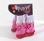Schöne Baumwollsocken Pet Anti-Rutsch-Socken für Hunde und Katzen Haustiere