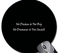 Personalized Gift Slogan Pattern Gaming Optical Round Mouse Pad (18x18cm)