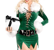 Costume di Natale di Charimg Princess Green Velvet Donne