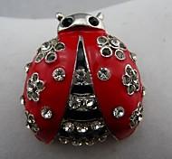 Fashion Beautiful Crystal with Drop Graze Ladybug Brooch.