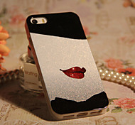 Joyland TPU + Glitter  Red Red Lip Back Case for iPhone 4/4S