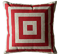 Red Square Box Decorative Pillow Cover