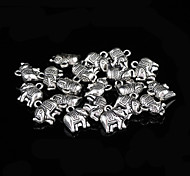 Classic Animal Silver Alloy Charms 20 Pcs/Bag (Silver)