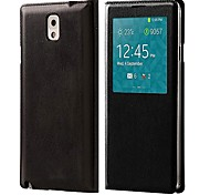 PU Leather Protective Case with Built-in Smart Chipset + Visual Window + Auto-Sleep for Samsung Galaxy Note 3