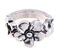 lureme®vintage fleurs en alliage anneau