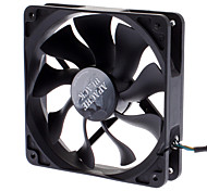 AK-FN058 12cm PWM Auto Speed ​​Control S-FLOW IP54 Super Silent Fan voor PC
