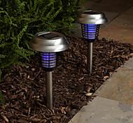 Purple and White Light LED Solar Light Mosquito Zapper Stake Light Garden Light