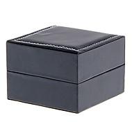 Black PU Leather Cubic Watch Box