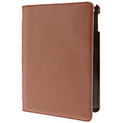 360 Degree Rotating Brown PU Full Body Case with Stand for iPad Air