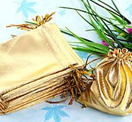 50pcs 9x11.5cm Golden Drawstring Organza Pouch Bag
