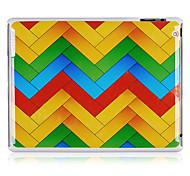 Caisse arrière de plastique de modèle de la ligne ondulée pour iPad 2/3/4