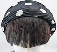 Fashion Fold Napkin Round Dot Black Headbands For Women