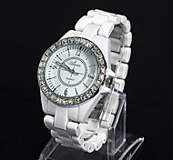 Women'S Water-Resistant Ceramic Band Ladies Dress Quartz Analog Watch