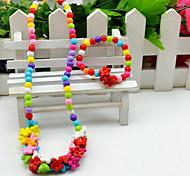 Parure di gioielli Acrilico A forma di fiore Faretto multicolore Arcobaleno Schermo a colori Feste 1 Set 1 collana 1 braccialeRegali di