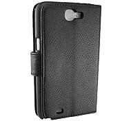 luxo pu couro flip-tampa da caixa com slot para cartão e Suporte para Samsung Galaxy note2/n7100 (cores sortidas)