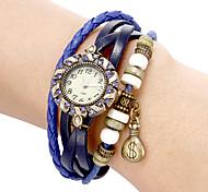 Women's Money Pendant Leather Band Quartz Analog Bracelet Watch (Assorted Colors) Cool Watches Unique Watches