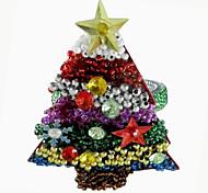 Рождественская елка Салфетка Кольцо набор из 12, акриловые Dia 4.5cm
