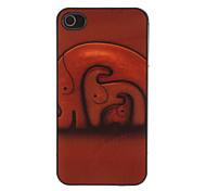 Escena caliente de elefantes Patrón Hard Case de aluminio para el iPhone 4/4S