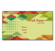 200pcs Personalized 2 Sides Printed Matte Film Diamond Style Business Card