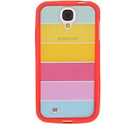 Bunter Regenbogen-TPU Hybrid Cover für Samsung Galaxy S4
