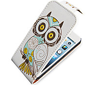 Owl Up-Down Turn Over PU Leather Case Bady completa para el iPhone 5/5S