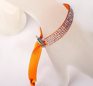 The Four Rows Diamond Orange Bracelet