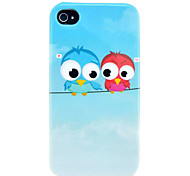 Lovely Owls Glossy TPU IMD Soft Case for iphone 4S/4