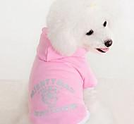 Patrón de la letra T-shirt de perro de mascota (colores surtidos, tamaños)