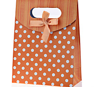 Lureme®Orange  Dots Paper Bag
