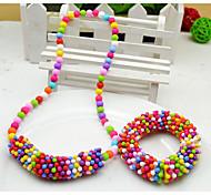 Девушки Снежинка комплект ювелирных изделий (ожерелье и браслет) (случайный цвет)