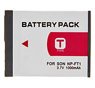 NP-FT1 Batterie 1000mAh pour appareil photo numérique Sony DSC-L1, DSC-L1B, DSC-L1-LJ