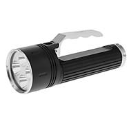 LusteFire DV10 Single-Mode 4xCree XM-L T6 LED Flashlight (2500LM, Built-in Battery, Black)