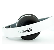 Syllable G08L-002 Hi-Fi Headset w/ Microphone for iPhone 4S / 5 / Laptop Compurter-White