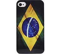 teste padrão da bandeira brasileira abs de volta caso para iphone 4/4s