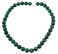 Vintage Round Shape Green Malachite DIY Beads (35~40 PCS)