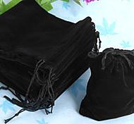 50pcs 10x12cm Black Velvet Drawstring Party Craft Gift Bags